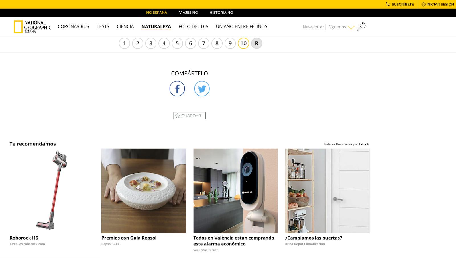Imagen de anuncios patrocinados de contenido nativo