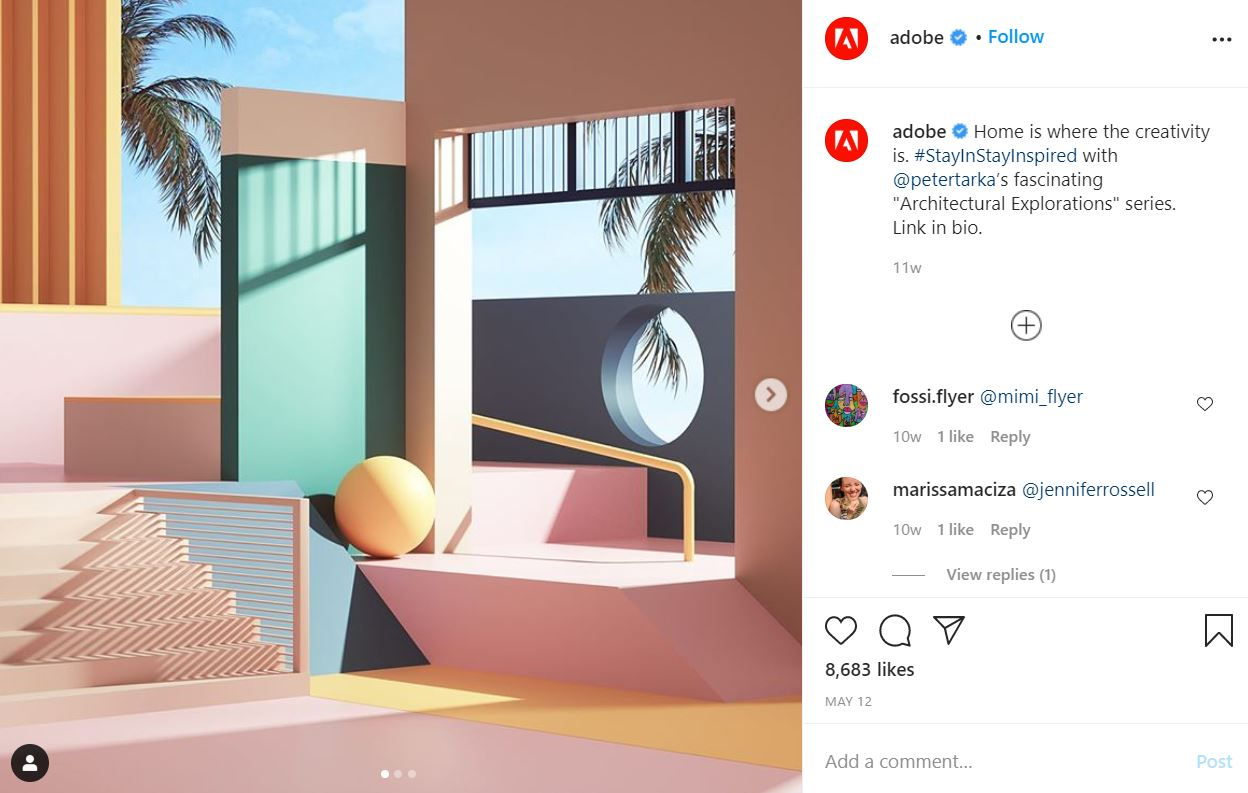 Adobe showing off user generated content