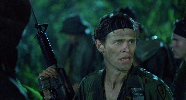 <I>Willem Dafoe as 'Sgt. Elias' in 1986's 'Platoon.' Image: Orion Pictures</I>
