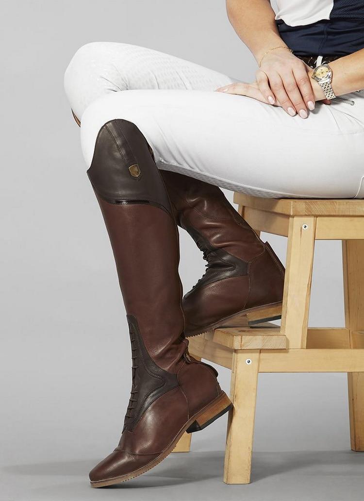 Botas de montar ecuestres para mujer botas altas sobre la rodilla ...