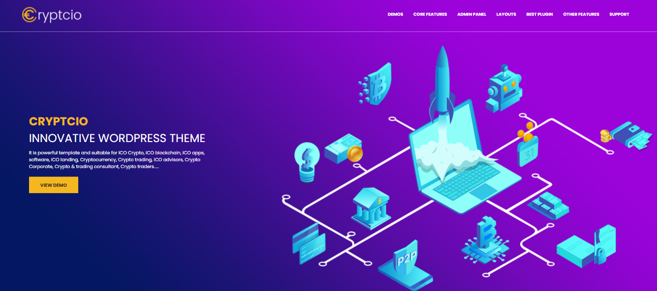 Cryptcio - digital products woocommerce theme