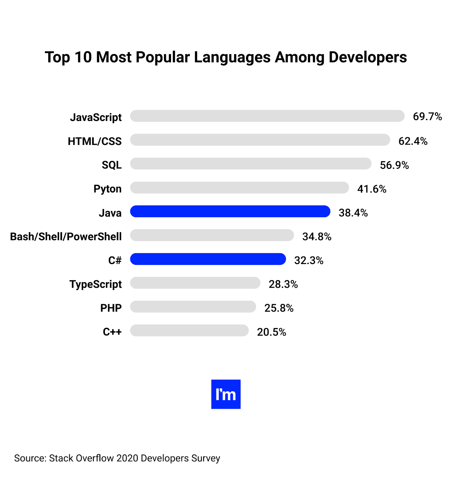 Top 10 Most Popular Programming Languages Among Developers