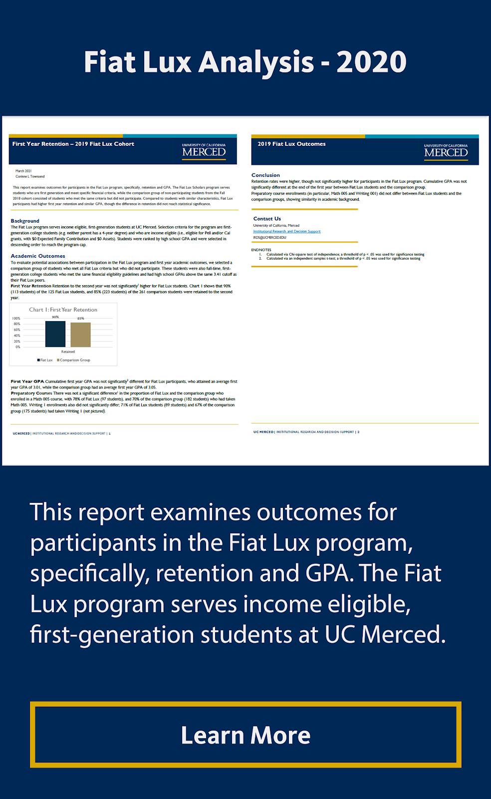 Fiat Lux Analysis - 2020