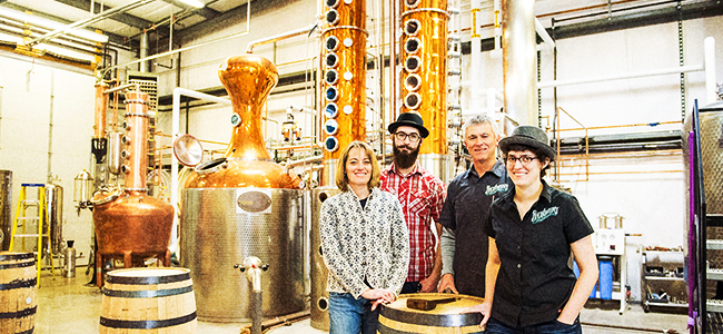 The Pollocks In Their Wyoming Distillery