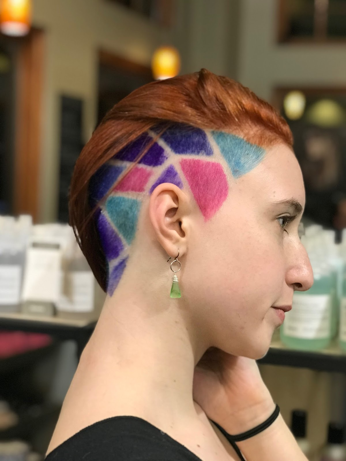 @jaimethomashair Stained glass undercut using Pulp Riot at Philospohi Salon in Columbus, Ohio