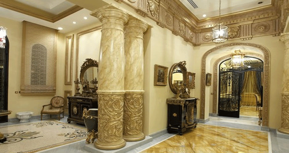 công trình sử dụng đá cột tròn
