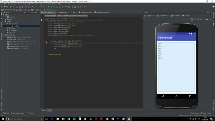 تصميم و برمجة تطبيق لعرض الصور عبر اندرويد ستوديو