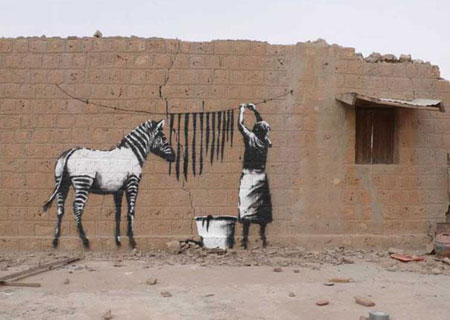 Banksy Washing Zebra Stripes - Timbuktu, Mali