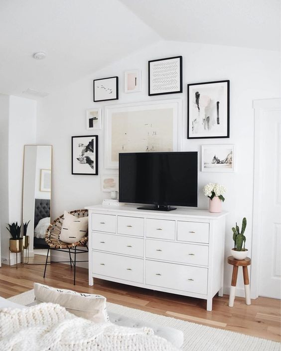 Chest of Drawers Used as a TV Stand