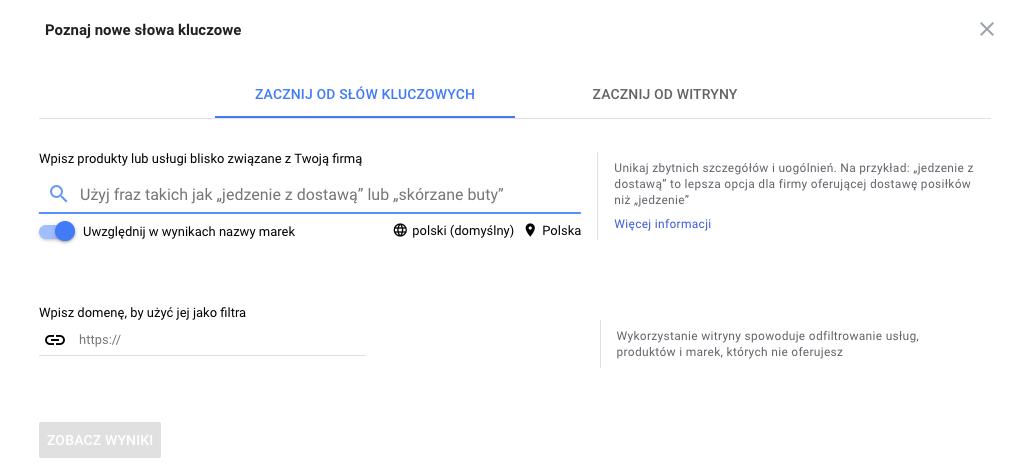 Jak samemu wypozycjonować stronę? Keyword Google Planner