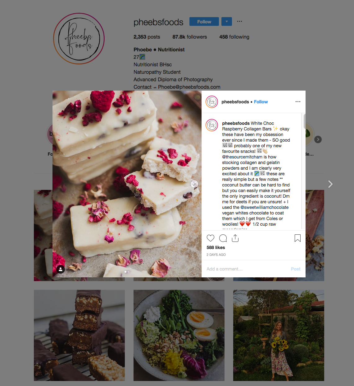 Pheebs Foods | Instagram Influencers