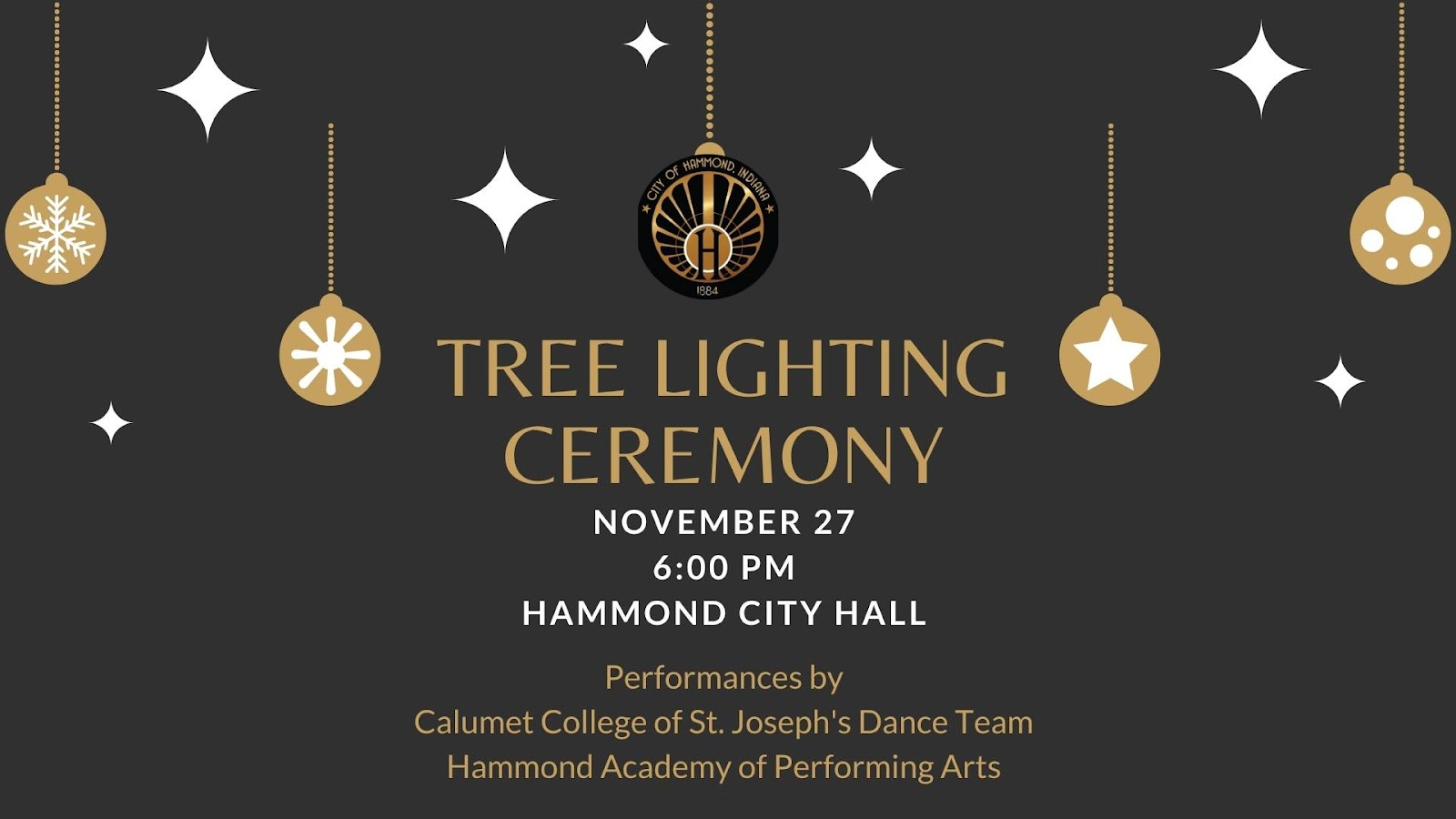Hammond tree lighting ceremony