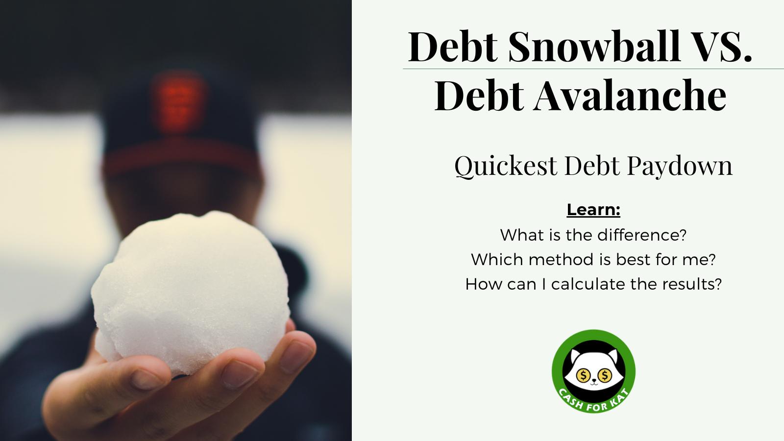 Debt Snowball vs Debt Avalanche title