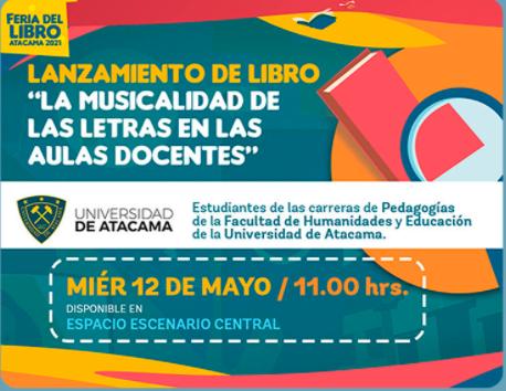 Lanzamiento de libro: LA MUSICALIDAD DE LAS LETRAS EN LAS AULAS DOCENTES