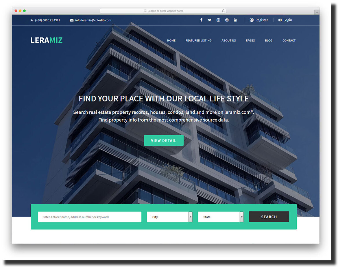 Leramiz real estate website template