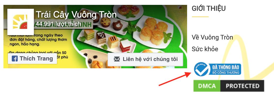 Website Trái Cây Vuông Tròn, một trong những khách hàng của chúng tôi