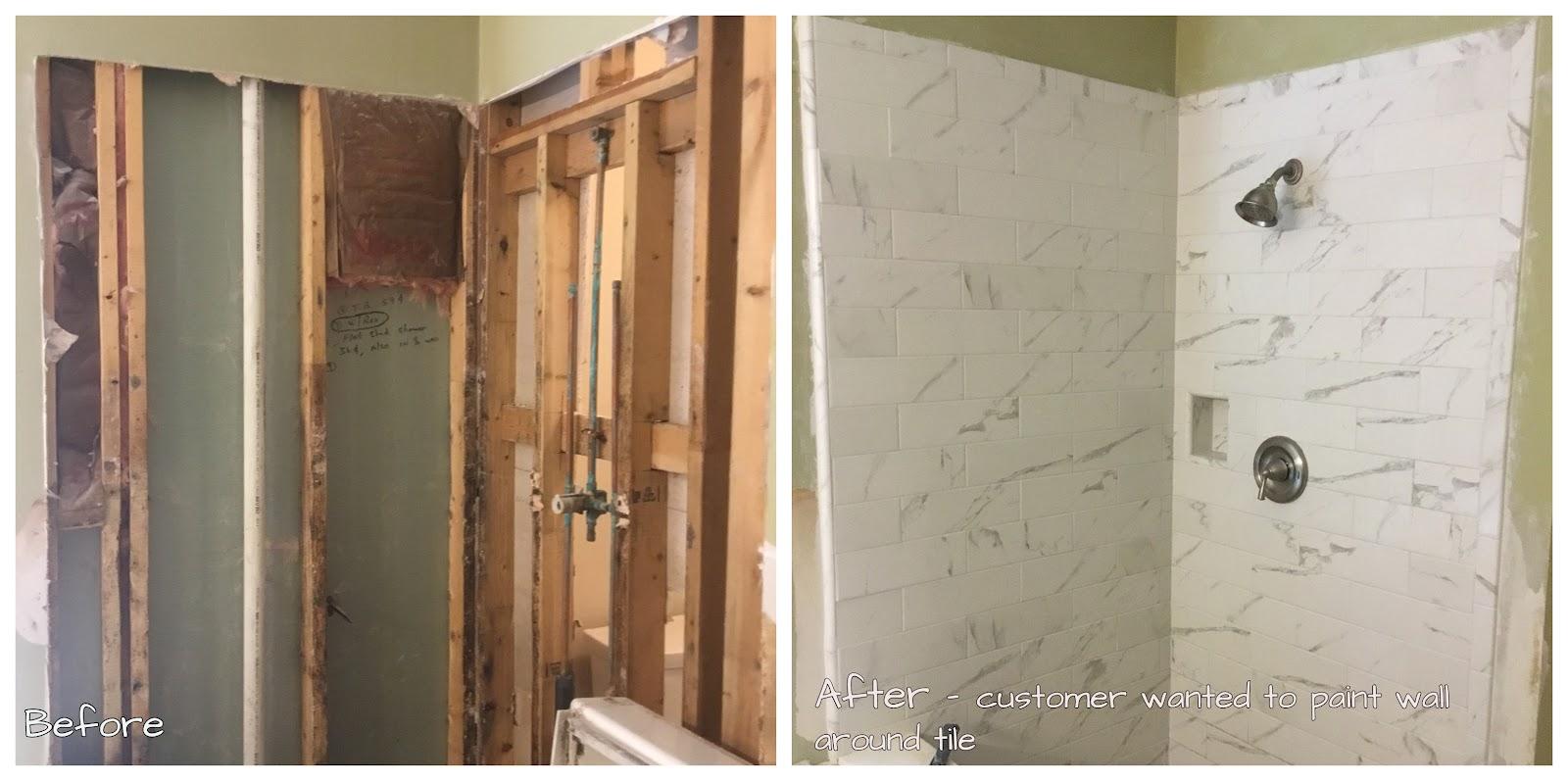 Handyman Aubrey bathroom renovation.