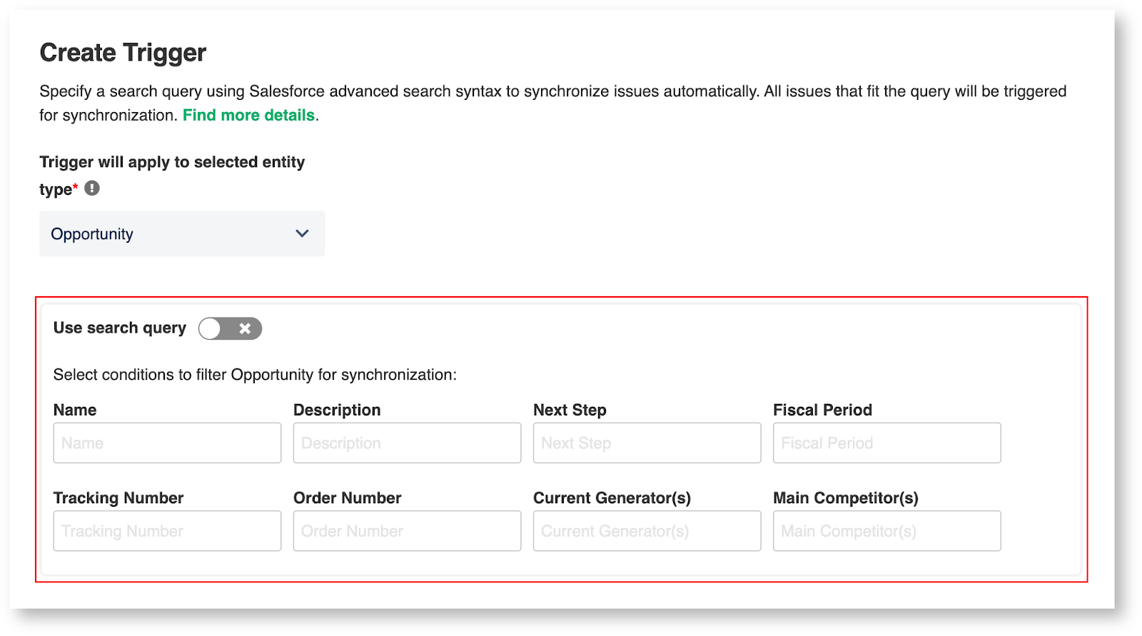 ServiceNow Salesforce sync triggers