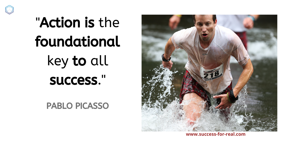 365 Success Quotes For Motivation - Picture Quote By Pablo Picasso