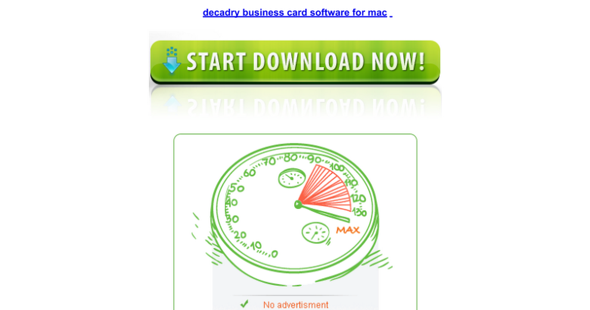 Decadry business card software for mac google docs reheart Choice Image