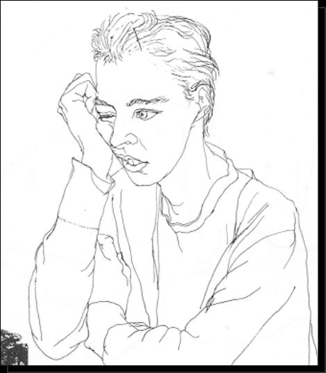 Contour Line Drawing Demo : Westosha art contour line figure drawing