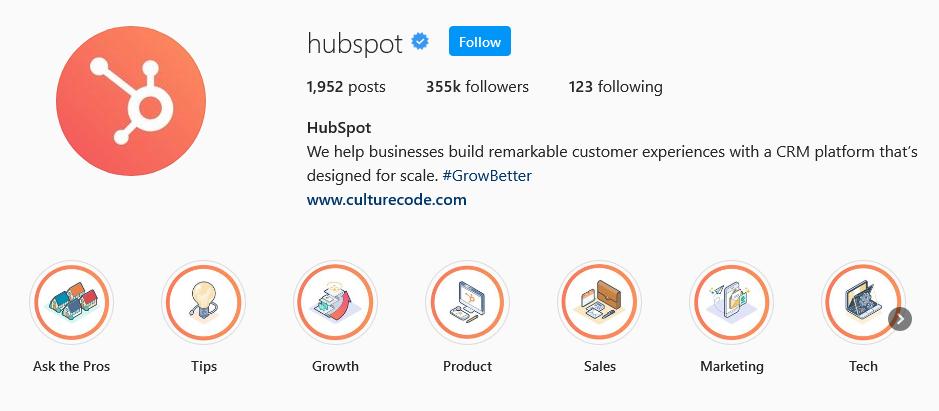 instagram brands hubspot