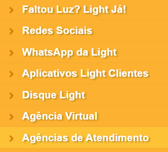 ache agências light para ligação nova