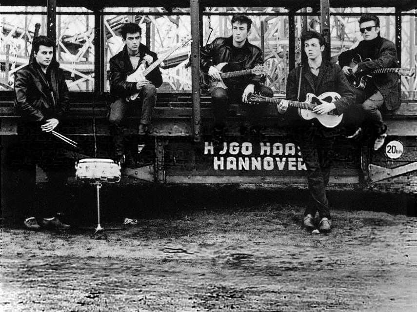 Famous photo of The Beatles in Hamburg 1960