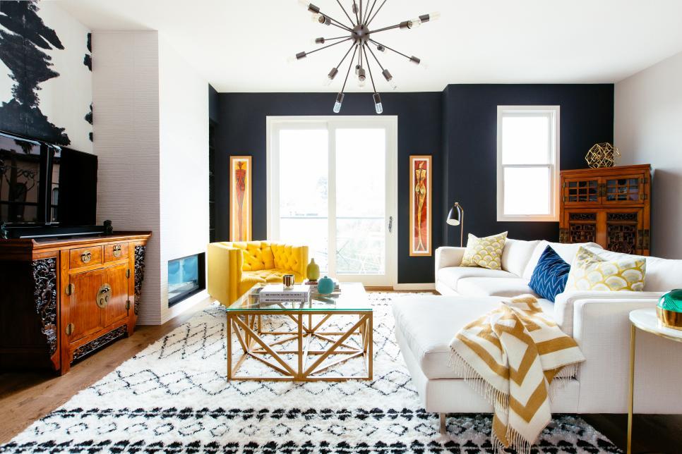 Elemen 'pola' pada desain interior - source: hgtv.com