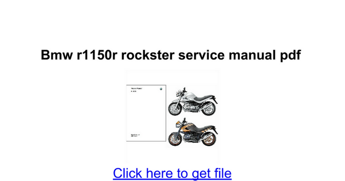 bmw r1150r rockster service manual pdf google docs