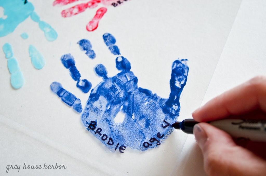 DIY Handprint Keychain | greyhouseharbor.com