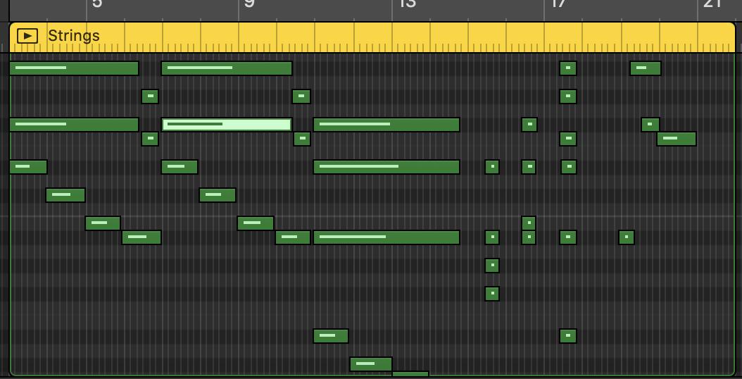 Aperçu d'un enregistrement MIDI