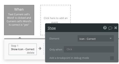 Bubble no code Duolingo clone tutorial displaying icons