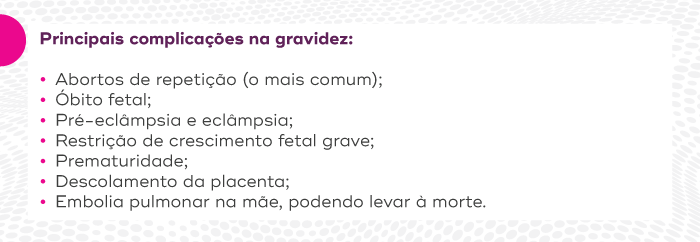 Principais complicações na gravidez devido a trombofilia