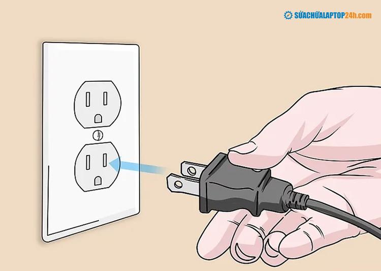 Cắm dây nguồn của bộ định tuyến vào nguồn điện