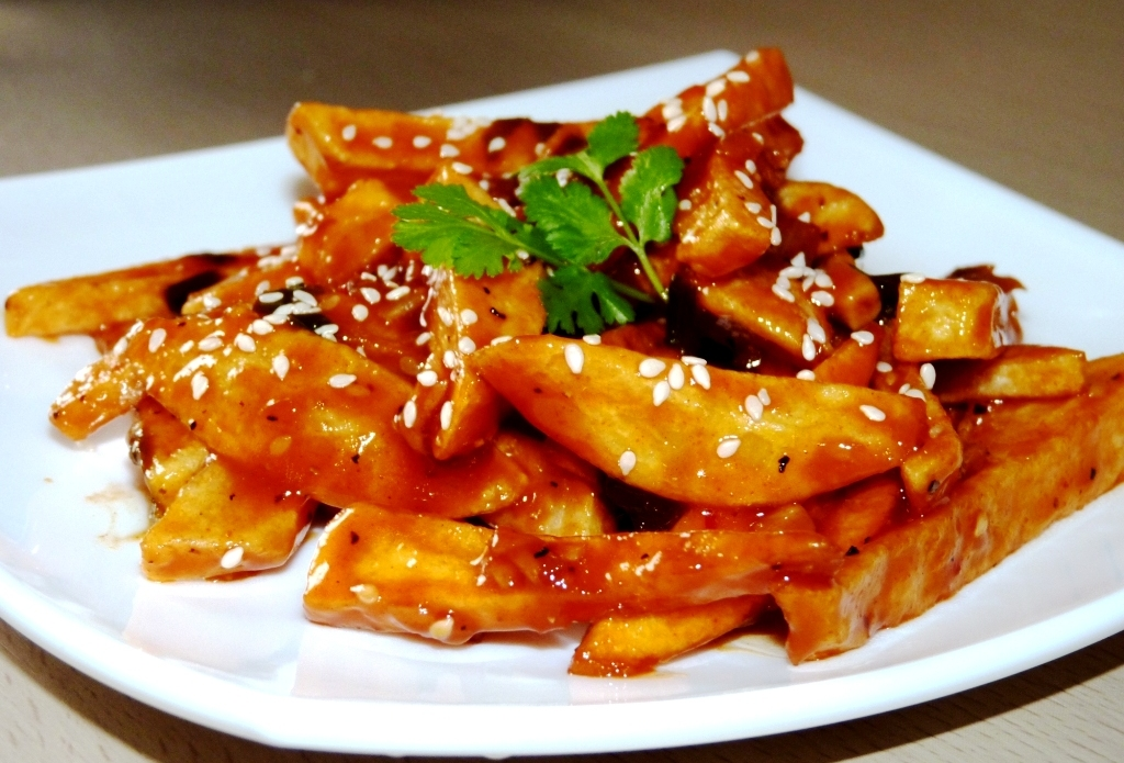 Crispy Honey Potato - Chinese Food
