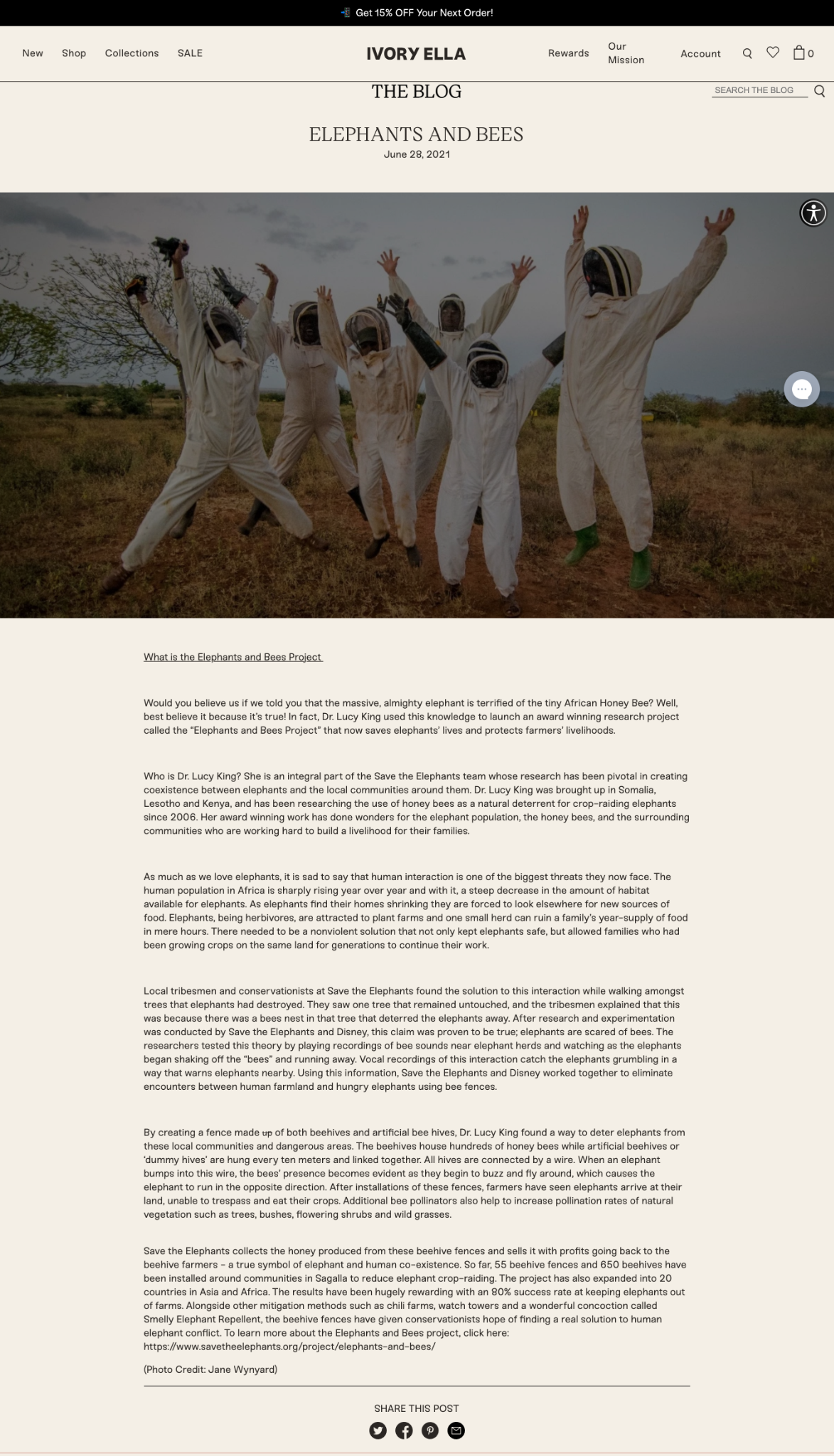 Ivory Ella's Blog - Elephant and Bees post