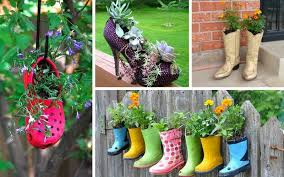 9 Ways to Use Old Shoes as Planters