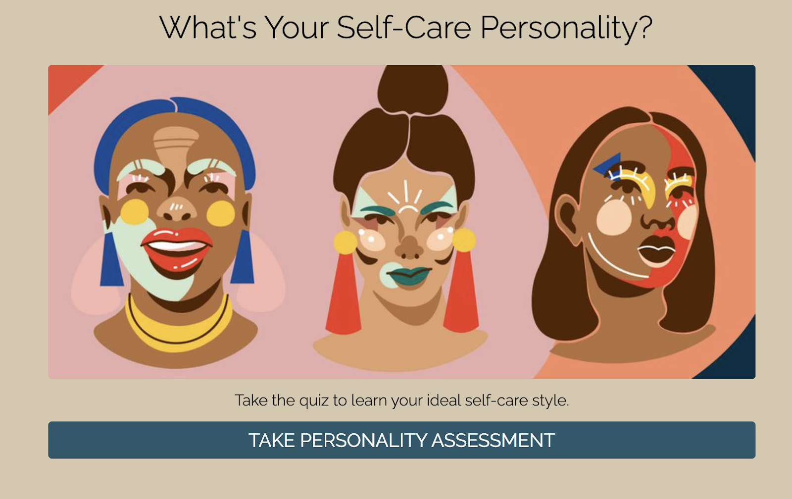 What is our self-care personality quiz cover