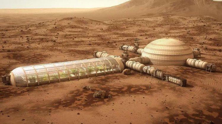 Khu định cư của con người trên sao Hỏa trong tương lai.