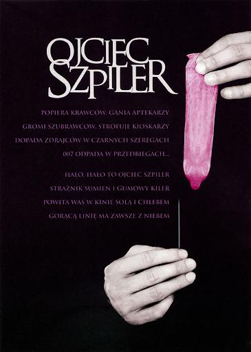 Tył ulotki filmu 'Ojciec Szpiler'