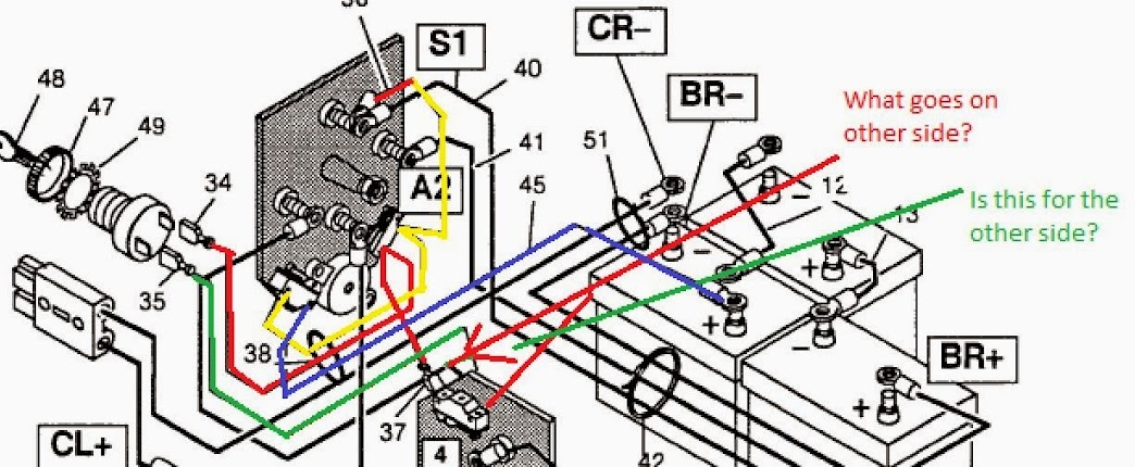 pds golf cart 36 volt ezgo wiring diagram #15 on Yamaha Golf Cart Parts Diagram for pds golf cart 36 volt ezgo wiring diagram #15 at Curtis 1204 Controller Wiring Diagram