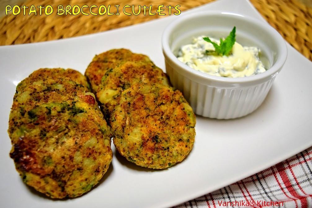 Potato Broccoli Cutlets