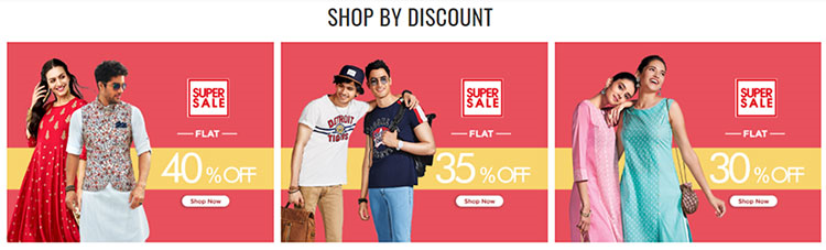 A brand offering enticing discount deals to its customers