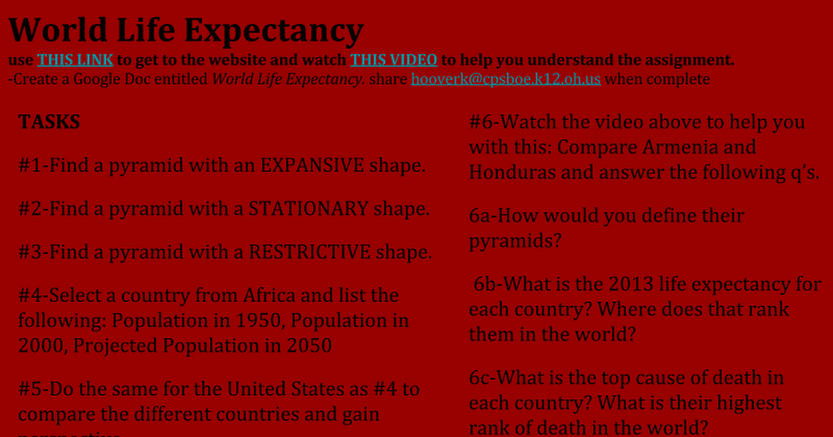 How does life expectancy in the United States compare to the rest of the world?