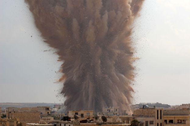 взрыв, устроенный коалицией Ахрар аш-Шам
