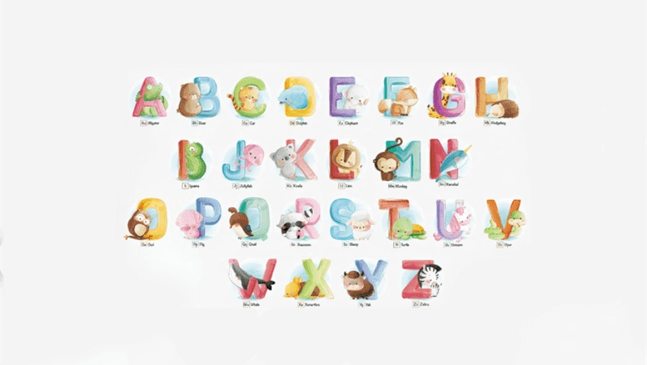 educational wall decals alphabet letters