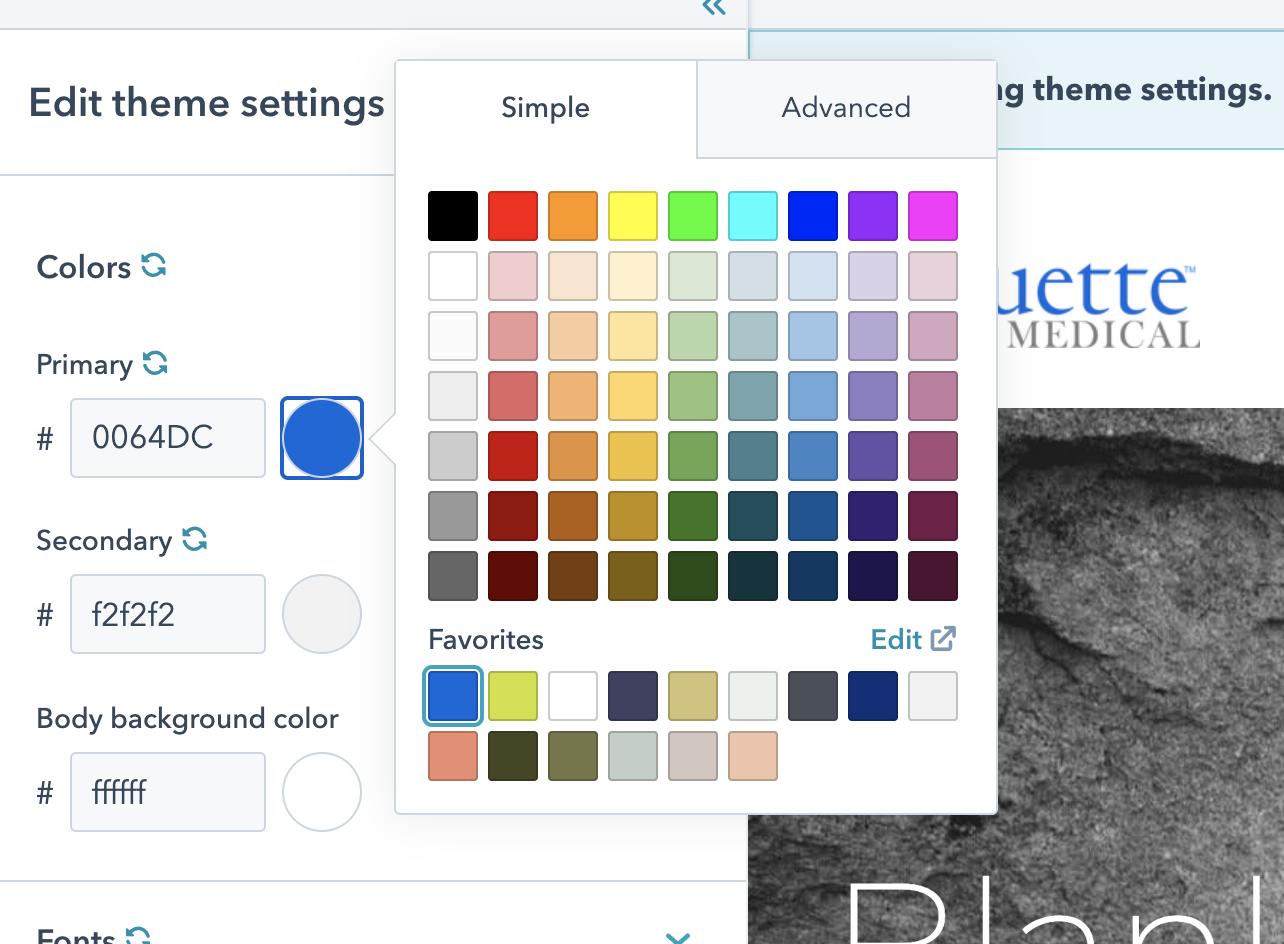 HubSpot Produktaktualisierungen Mai 2021: Markenvorgaben zum Color Picker hinzugefügt