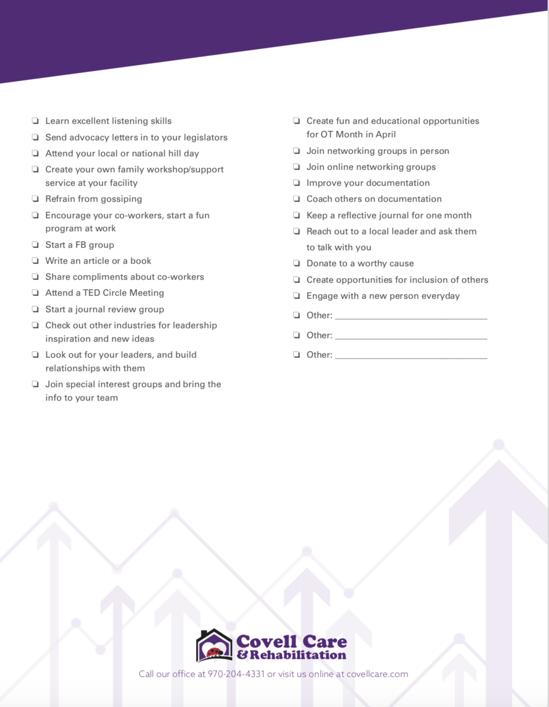 Leadership checklist part 2
