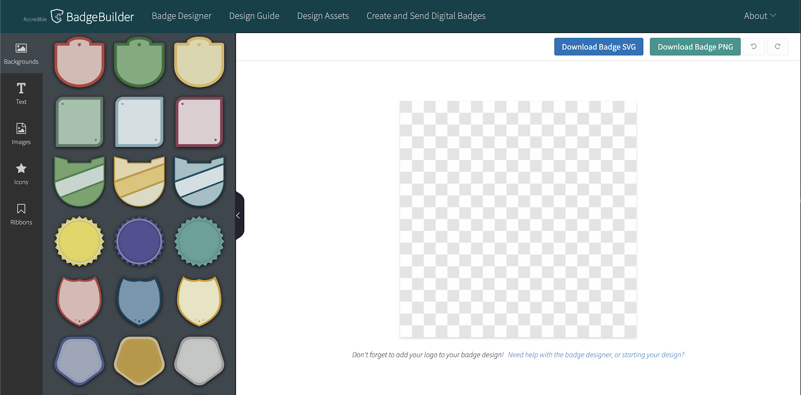Screenshot of Accredible's website badge builder